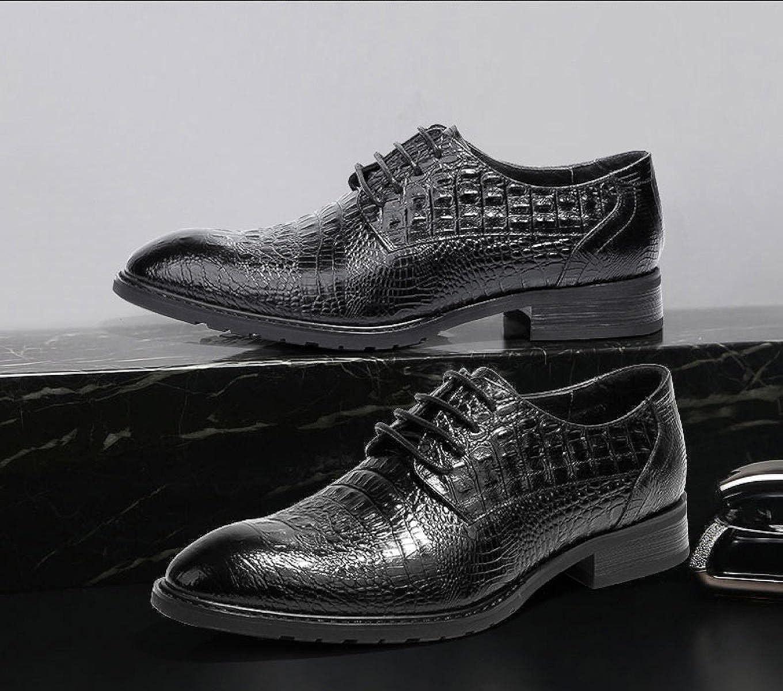 LEDLFIE Herren Schuhe Schuhe Schuhe Kleid Schuhe Krokodil Muster Business Herrenschuhe Leder Spitze a670ca