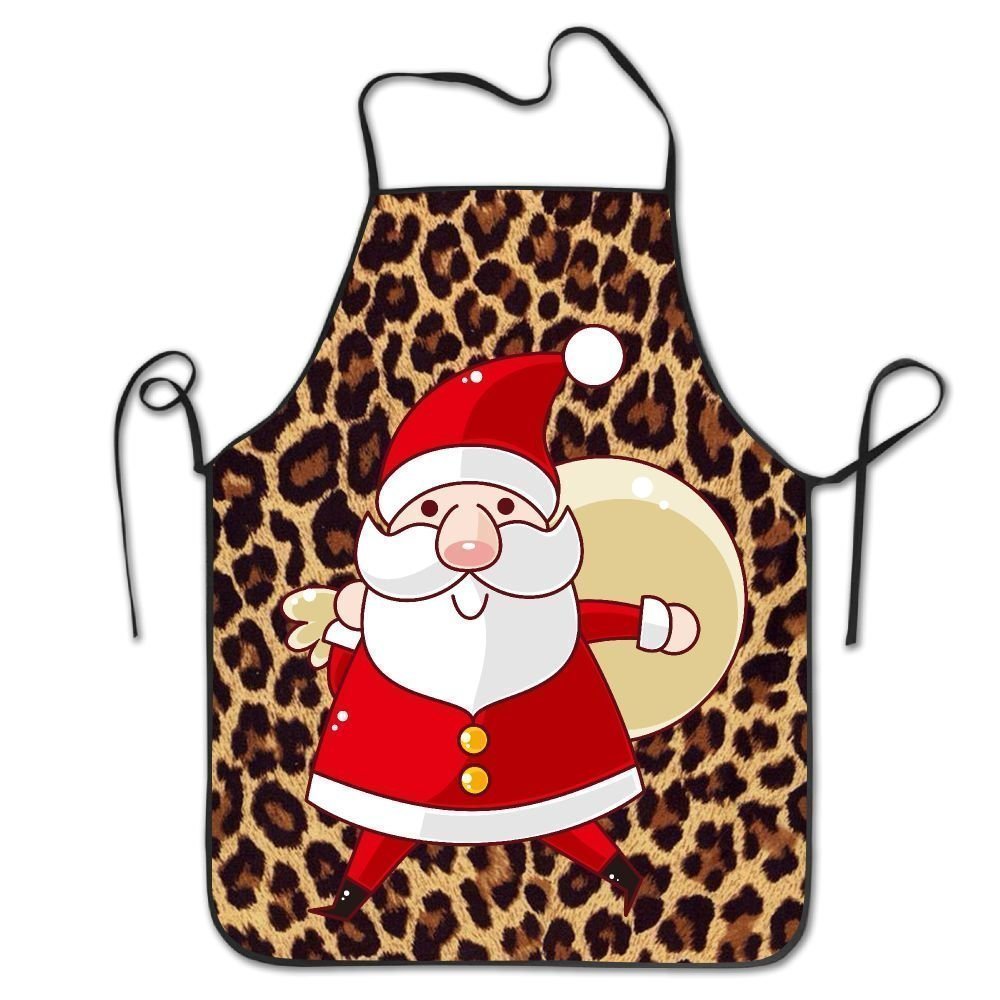 クリスマスサンタクロースレディース面白いクリエイティブ印刷料理エプロン   B07DCPQZKN
