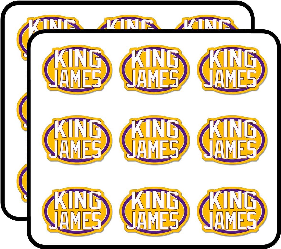"Oval King James - Lakers la Los Angeles Number Lebron 23 Love Sticker for Scrapbooking, Calendars, Arts, Album, Bullet Journals 2"" 18 Pack"