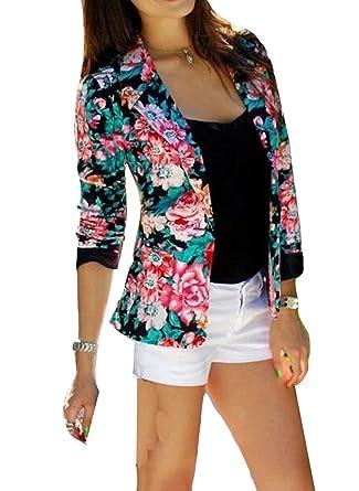 Tailleur Femme Chic Fleur De Mode Motif De Fleur Imprimee Courte