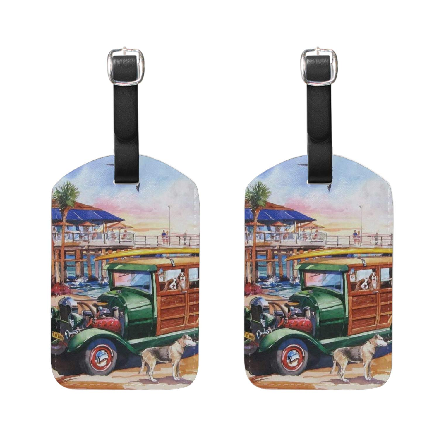 Conch In Sun Print Luggage Identifiers with Strap Closure