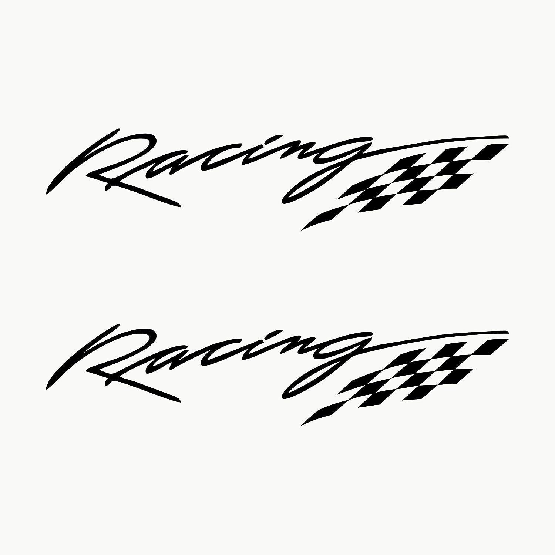 Autodomy Pegatinas Racing Sport Tuning JDM OEM Pack 2 Unidades para Coche (Negro)