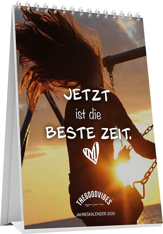 Tischkalender 2020WEIN /& LIEBE von THEGOODVIBES Jahreskalender A5 Zum Aufstellen Spr/üche Kalender Ideal F/ür B/üro Zuhause Und Als Geschenk F/ür Deine Beste Trinkfreund//in Made In Germany