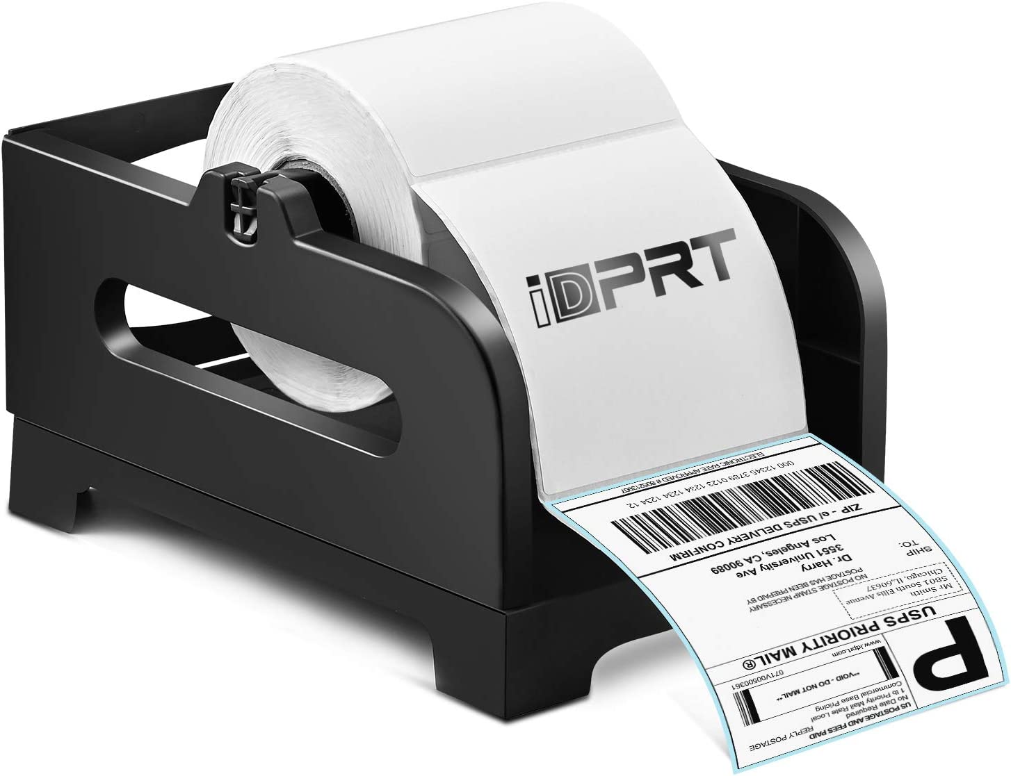 Label Holder-iDPRT Shipping Label Holder, Plastic Paper Holder, Thermal Label Holder for Rolls and Fan Fold Labels, Work with Desktop Label Printer, Suitable for Home, Office &Transportation
