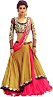 Morang Women's Georgette Lehenga Choli With Dupatta (1654_Multicolor_Free Size)