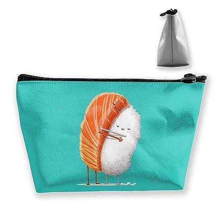 36f32dc96ee7 Amazon.com: customgogo Women's Sushi Hug Travel Makeup Bags ...