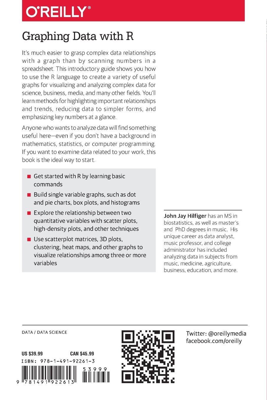 Graphing Data with R: An Introduction: Amazon.es: John Jay Hilfiger: Libros en idiomas extranjeros
