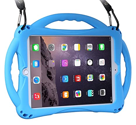 wholesale dealer c0d91 665b1 New iPad 2017/2018 9.7 inch Case/iPad Air Case, TopEsct Shockproof Silicone  Handle Stand Case Cover&(Tempered Glass Screen Protector) For Apple New ...