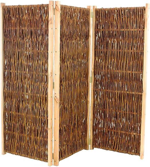 Separador de V.I.P., Biombo Altura 150 cm x ancho 180 cm, 3 piezas – raumtrenner móvil para ventana: Amazon.es: Jardín