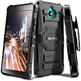 Evocel Microsoft Lumia 640 XL Case - Dual Layer [New Generation] Rugged Holster Case with Kickstand and Belt Swivel Clip Nokia Lumia 640 XL - Retail Packaging, Black
