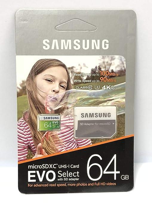 Samsung EVO Select - Tarjeta microSD XC UHS-I con Adaptador SD (64 ...