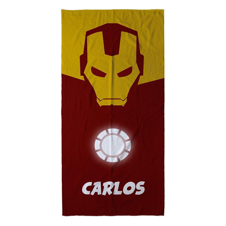 Divers mod/èles et Tailles /à Choisir Cadeau Geek Hulk Lolapix Serviette de Plage Super-h/éros personnalis/ée avec nom