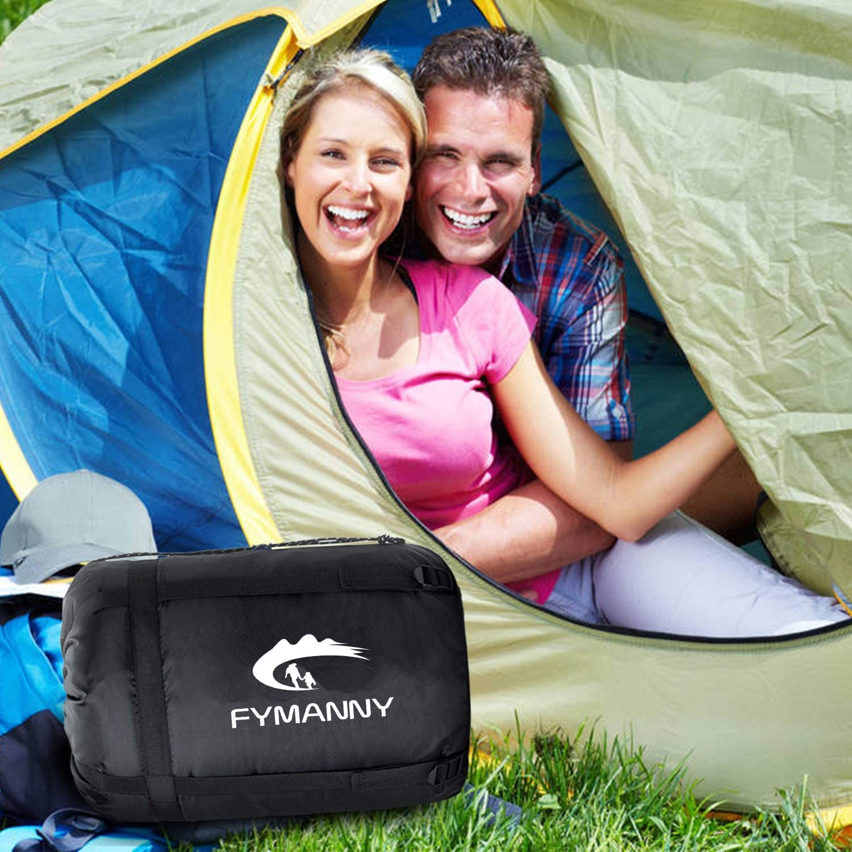 /Équipement de Camping Voyage WERTYCITY Sac de Couchage en Flanelle de Coton pour Adultes et Enfants Camping Randonn/ée et en Ext/érieur Professionnel Temp/érature Confort de +5 /°C