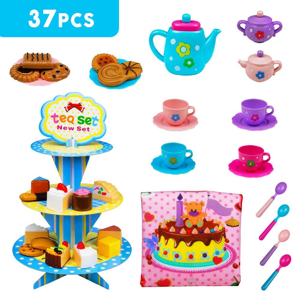 Tee Set Spielzeug Kaffeeservice Puppengeschirr Kunststoff ...