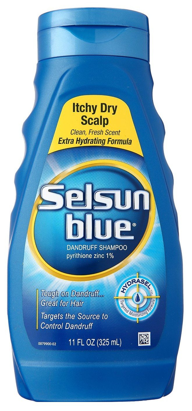 Selsun Blue Shampoo Dandruff Itchy Dry Scalp 11 Ounce (325ml) (6 Pack) by Selsun Blue