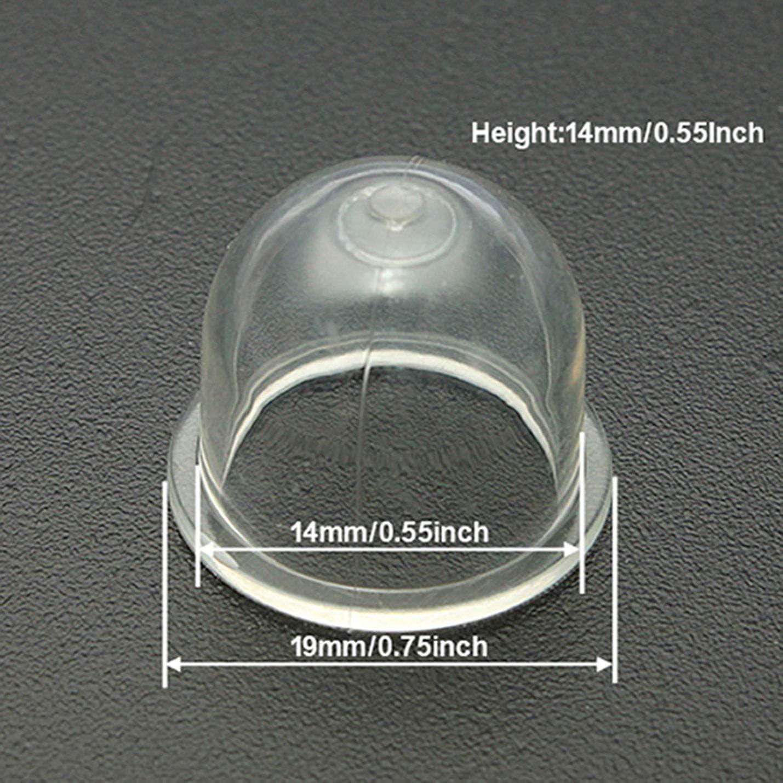 2pcs Vergaser Snap In Primer Kraftstoffpumpe Lampe zur Verfügung für Hedge
