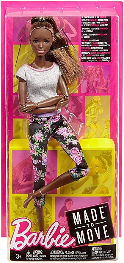 New 2018 Barbie Made to Move yellow Hair Pink Top Doll~Articulated Posable