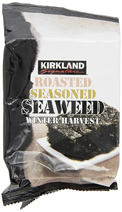 Kirkland Signature Roasted, Seasoned Seaweed Winter Harvest (12 Packages of 17 gm Seasoned Seaweed)