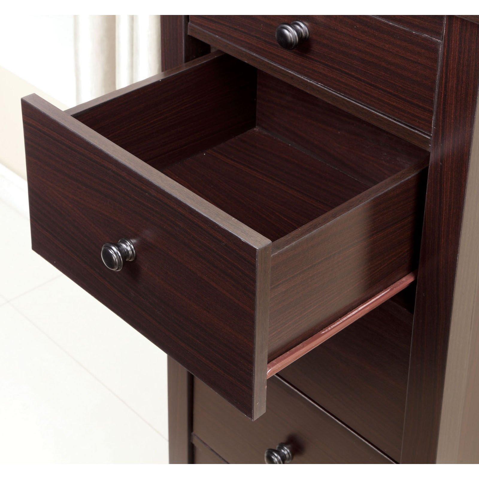 Arienth 5-Drawer Storage Chest, Espresso by Furniture of America