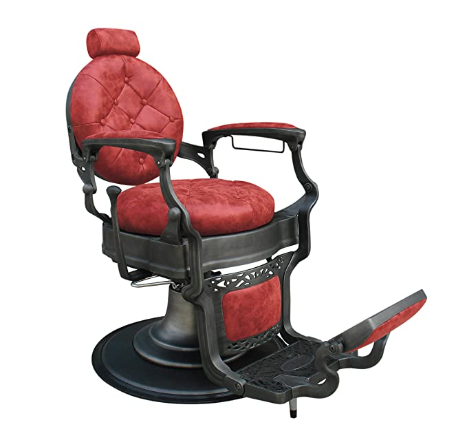 Terrific Wayne Vintage Barber Chair Color Redloadable Up To 300Kg Machost Co Dining Chair Design Ideas Machostcouk