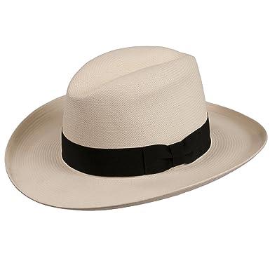 53f3d880bf032 Levine Hat Co. Men s Homburg Panama Straw Dress Godfather Hat at ...