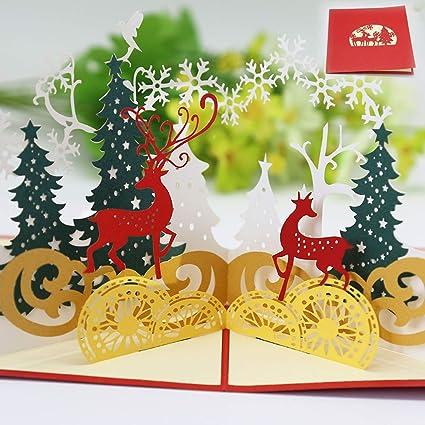 Navidad Tarjetas,Tarjetas de Navidad 3D,Navidad Tarjeta de ...