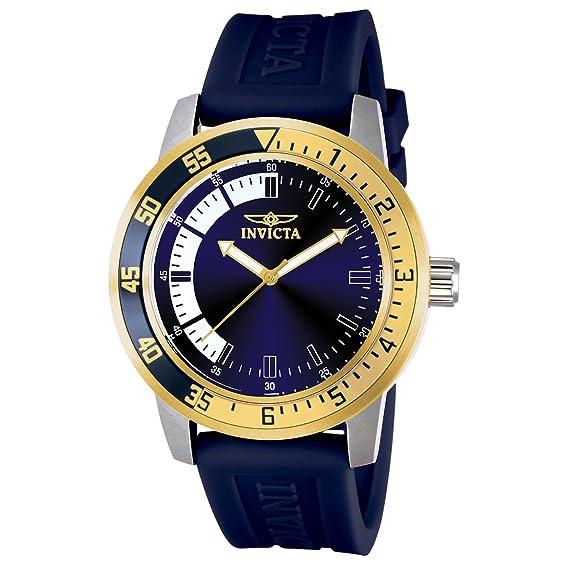 Invicta 12847 Specialty Reloj para Hombre acero inoxidable Cuarzo Esfera azul: Amazon.es: Relojes