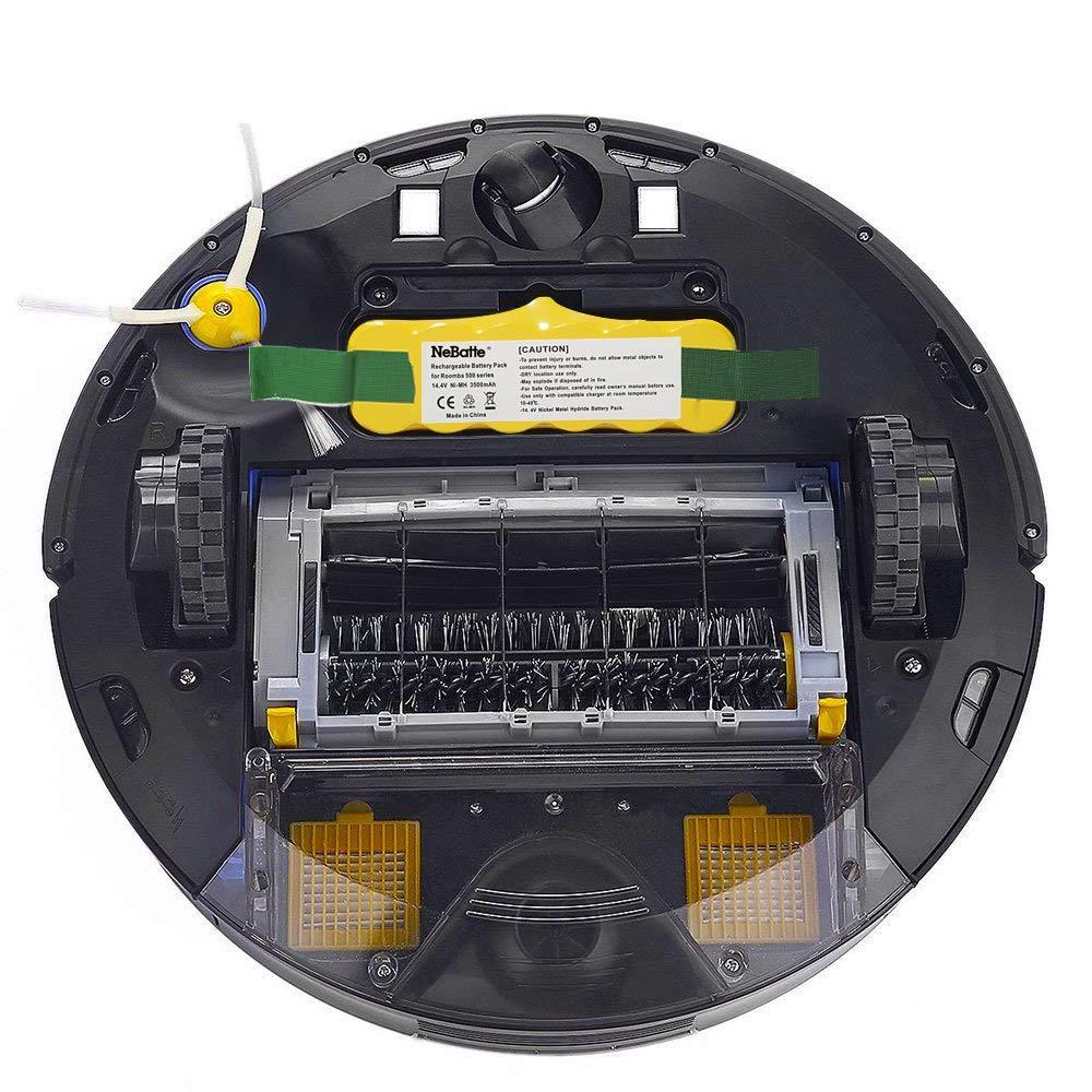 NeBatte Roomba 14.4V 4500mAh Ni-MH Aspiradoras de repuesto Baterías para iRobot Roomba 500 600 700 800: Amazon.es: Hogar