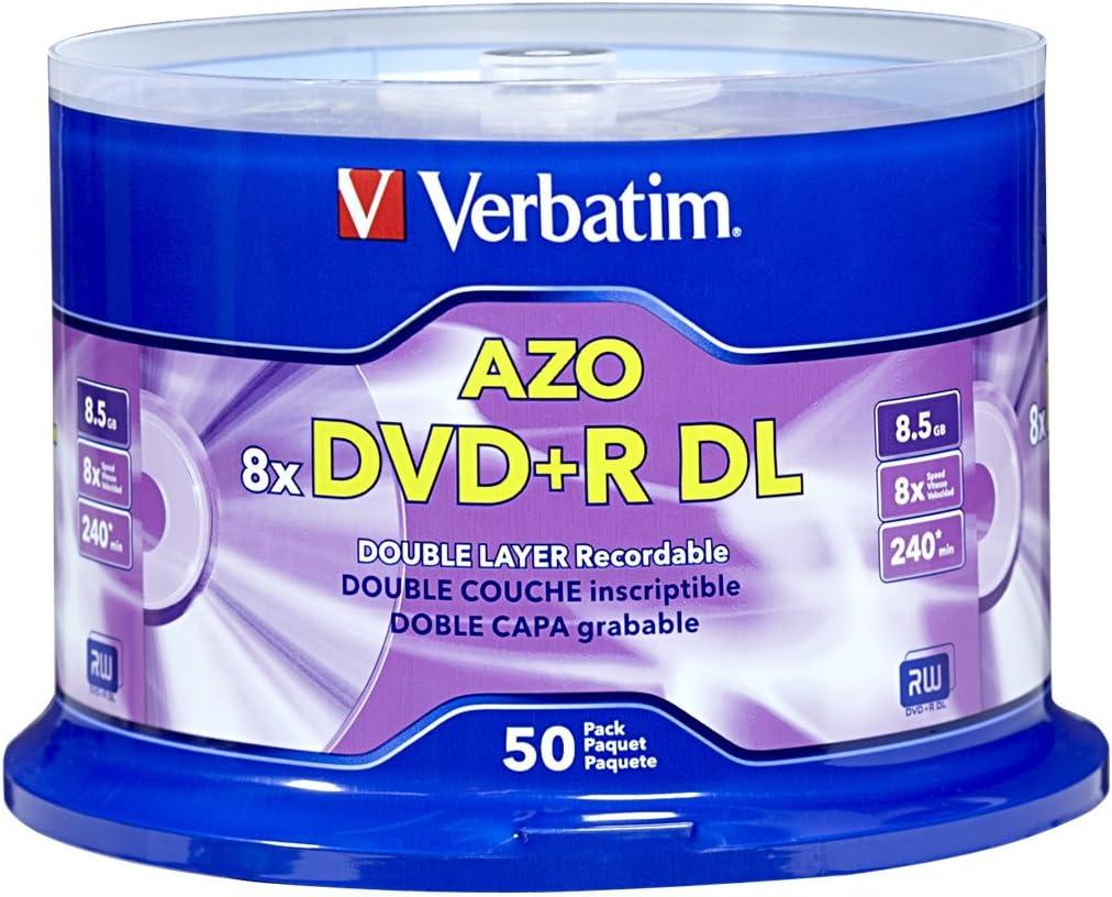 Verbatim DVD+R DL 8.5GB 8X 50 PK 8,5 GB 50 Pieza(s) - DVD+RW vírgenes (8,5 GB, DVD+R DL, 120 mm, 50 Pieza(s), 240 min, 8X): Amazon.es: Informática