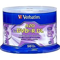 Verbatim 97000 AZO DVD+R DL 8x-10x Disco grabable de doble capa, 50 discos