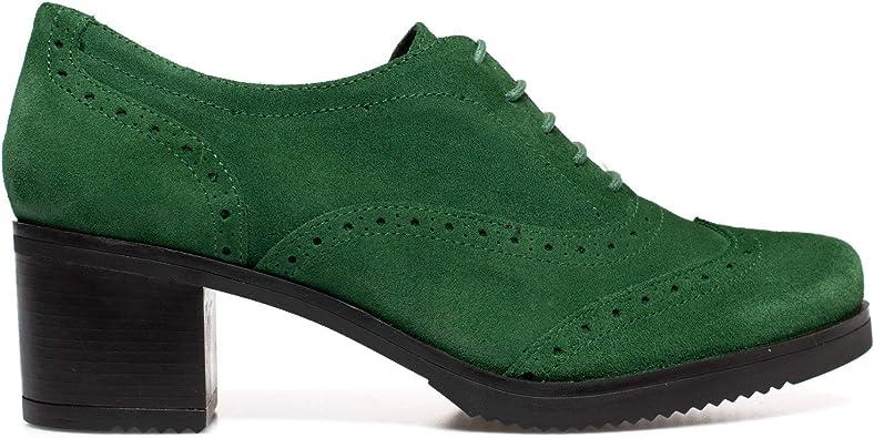 Blucher Zapatos Oxford Mujer con Cordones Verde: Amazon.es: Zapatos y complementos