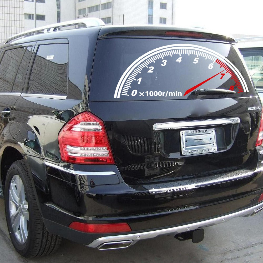 Amazon com speedometer tachometer rear windshield reflective car rear window decoration car sticker automotive
