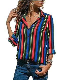 Amazon.com: ASKSA - Camisas de manga larga para mujer ...