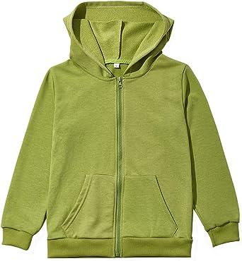 Xmas Kids Girls Long Sweatshirt Hooded Pullover Fleece Casual Winter Coat Tops