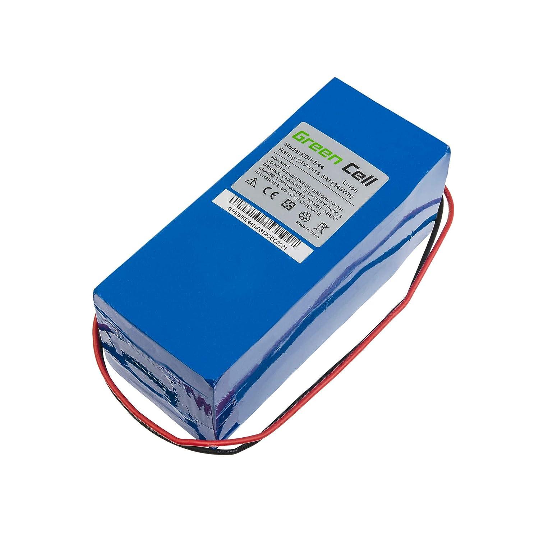 GC/® Batterie E-Bike 24V 11.6Ah V/élos /Électriques Pedelec Bottle Legnano Hercules Raleigh avec Cellules Panasonic et Chargeur