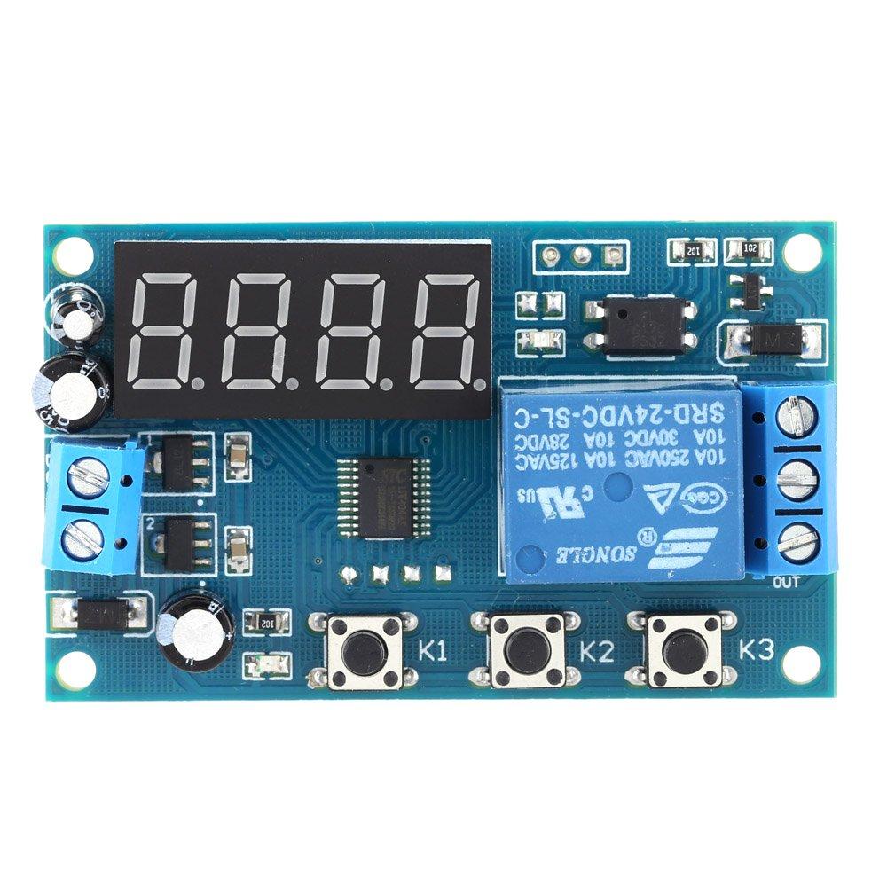 KKmoon Multifonctions Temps Module Commutateur Commande Relais Cycle Différé DC 12V