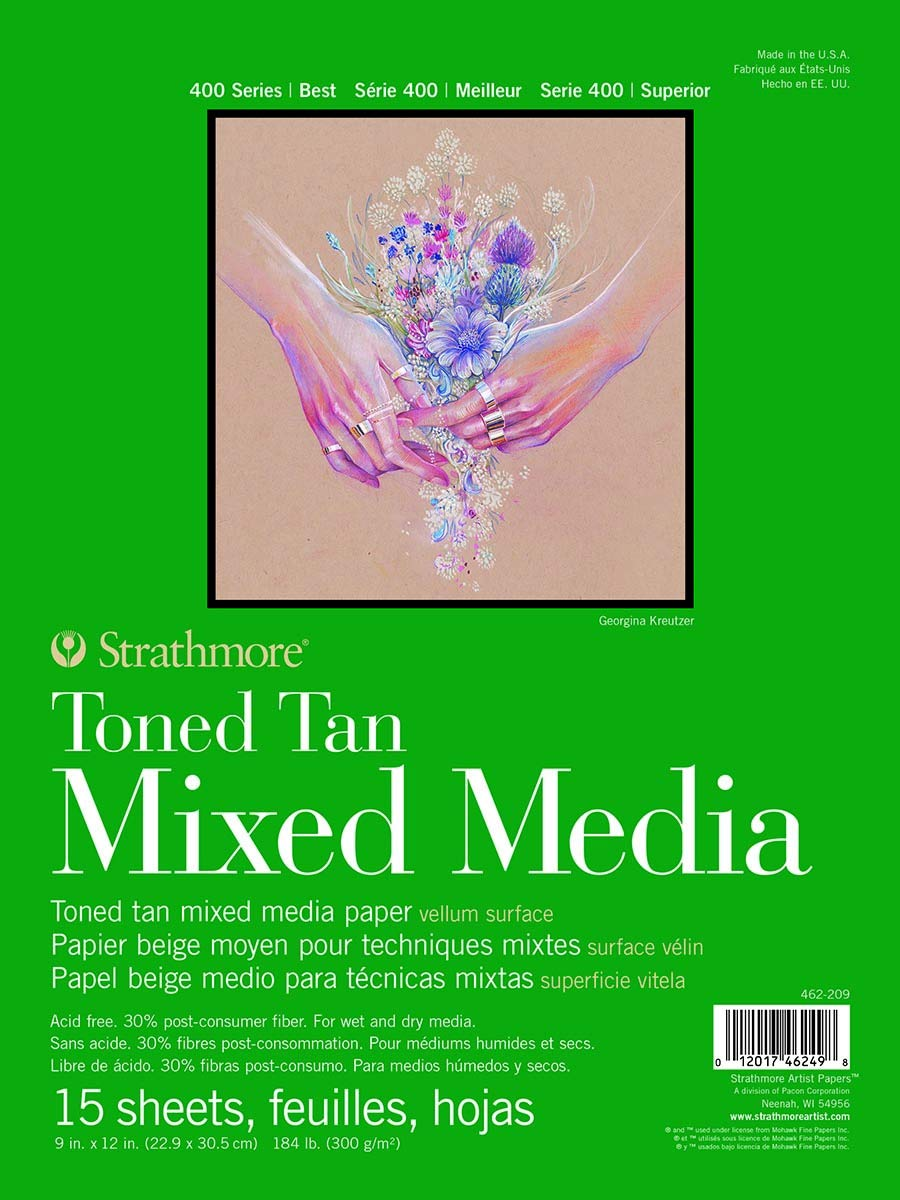 Strathmore Toned Mixed Media Paper Tan 22.6 x 30.22 x 1.27 cm