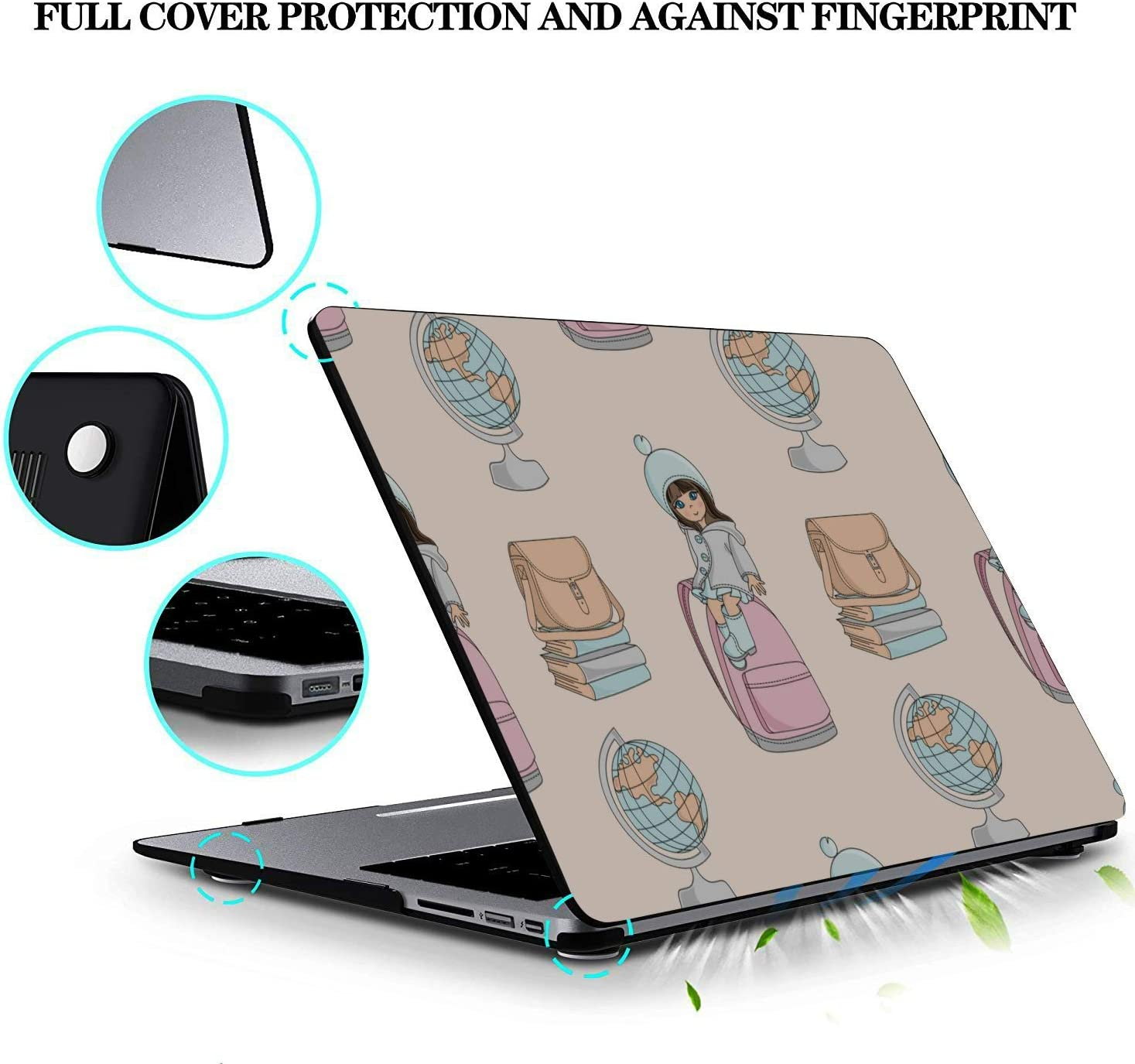 Macbookpro Case School Bag Children Backpack Ideas Plastic Hard Shell Compatible Mac Air 11 Pro 13 15 Case for Mac Protection for MacBook 2016-2019 Version