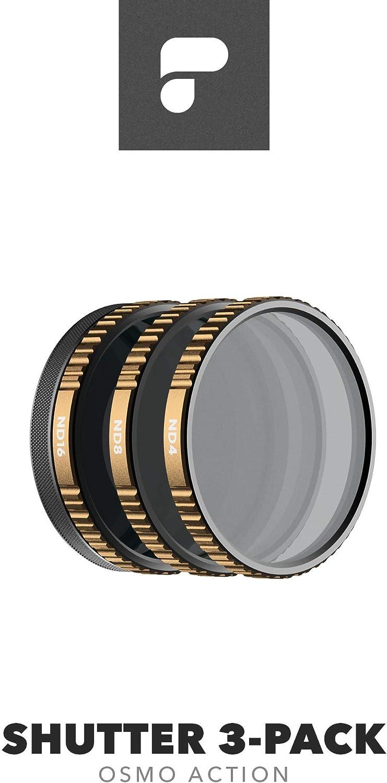 Magnetic HotSwap Filter System PolarPro Shutter Filter 3-Pack for DJI Osmo Action