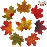 WXBOOM 400pcs Artificial Silk Maple Leaf Autumn Fall Leaves for Wedding House Party Decorations