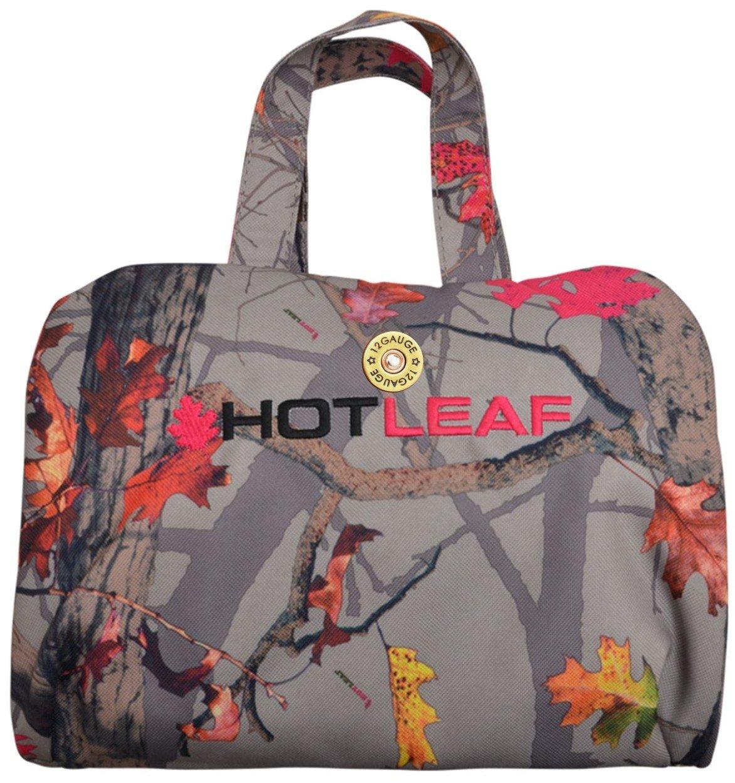 Amazon.com: Bolsa de aseo para mujer con diseño de hoja ...