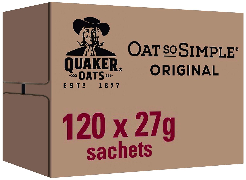 Quaker Oat So Simple Original Porridge, 27 g, Pack of 120 WALFZ