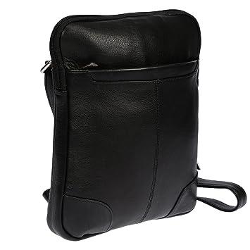 336e98df4f7cf Christian Wippermann Leder Umhängetasche für Herren Damen mit Tablet iPad  Fach