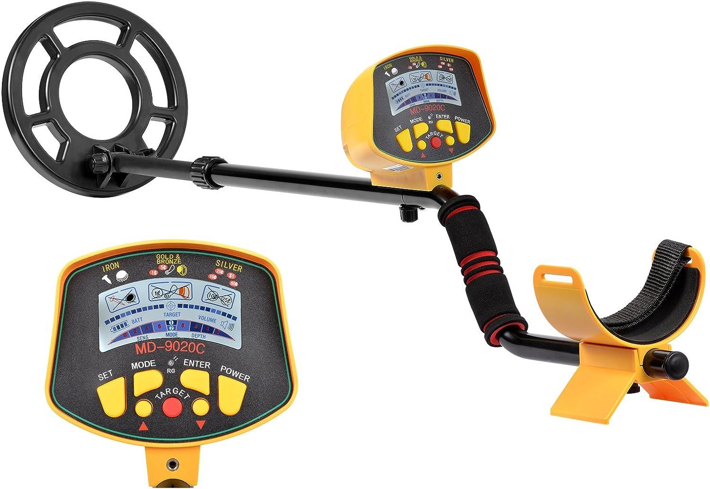 Detector de metales shuogou md9020 C profesional de alta sensibilidad impermeable Detector de metales subterráneo – caza del tesoro búsqueda pantalla LCD: Amazon.es: Jardín