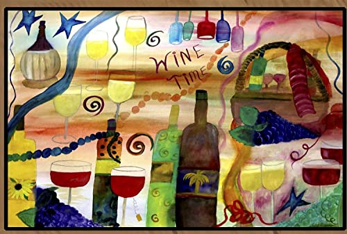 Wine Time Art Floor Mat 36 x 60