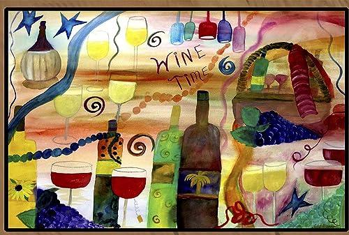 Wine Time Art Floor Mat 48 x 72