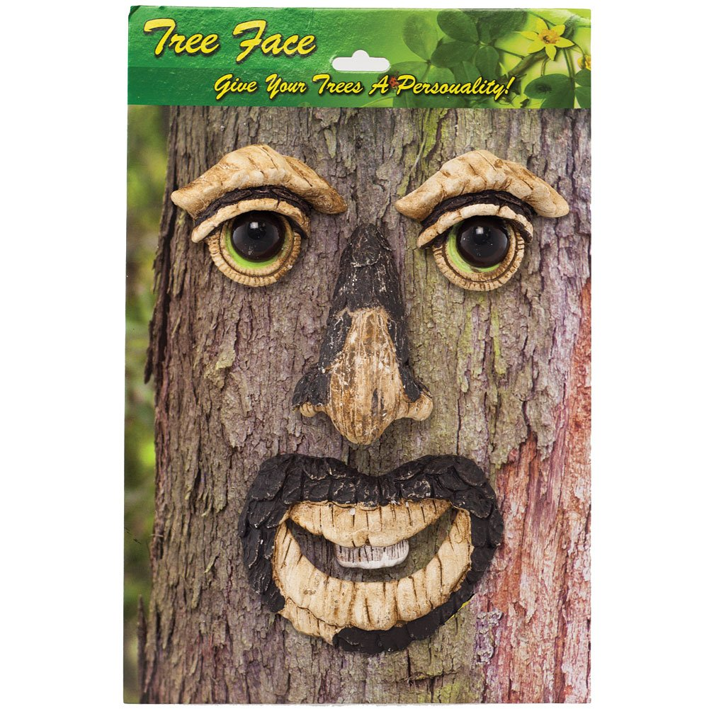 Whimsical 4 Piece Mr. Tree Face Gives Charm, Personality & Glows In The Dark by Land & Sea