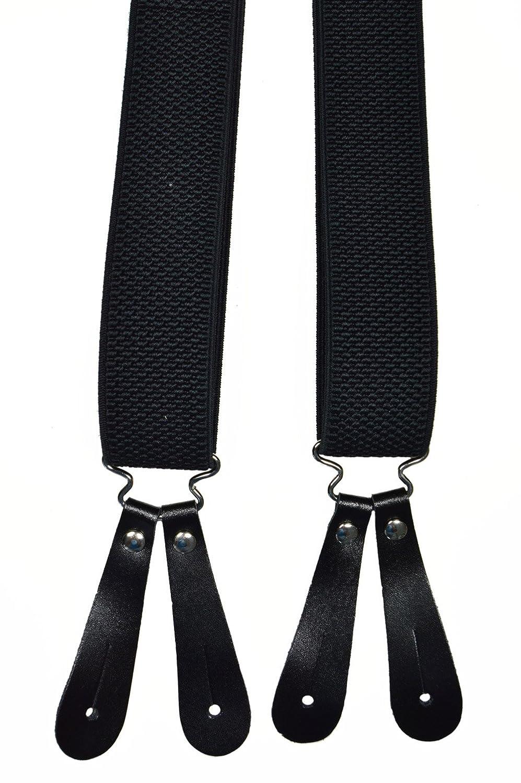 3.5cm larghezza Olata Unisex Bretelle regolabili con 2 pezzi Vera Pelle Asole In Vari Colori