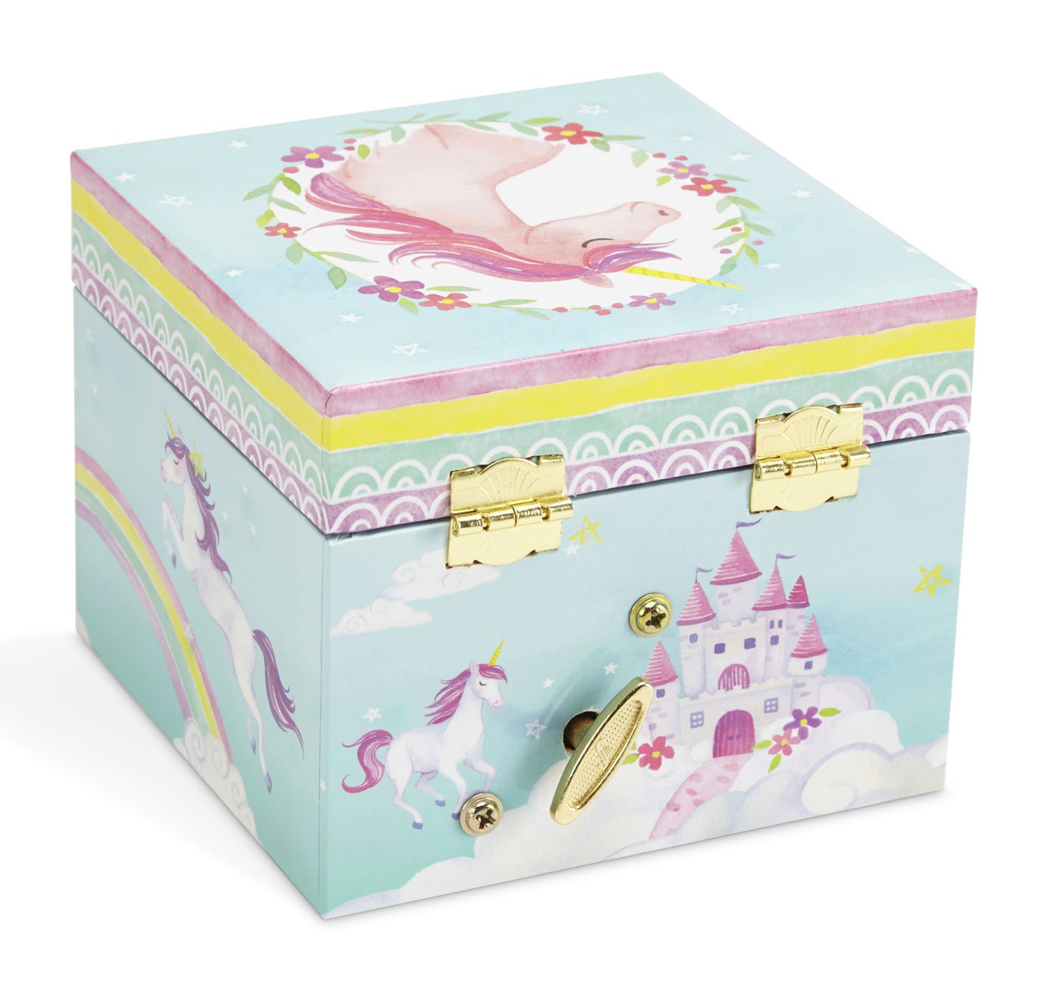 JewelKeeper Musical Jewelry Box, Unicorn Rainbow Design with Pullout Drawer, The Unicorn Tune by JewelKeeper (Image #5)