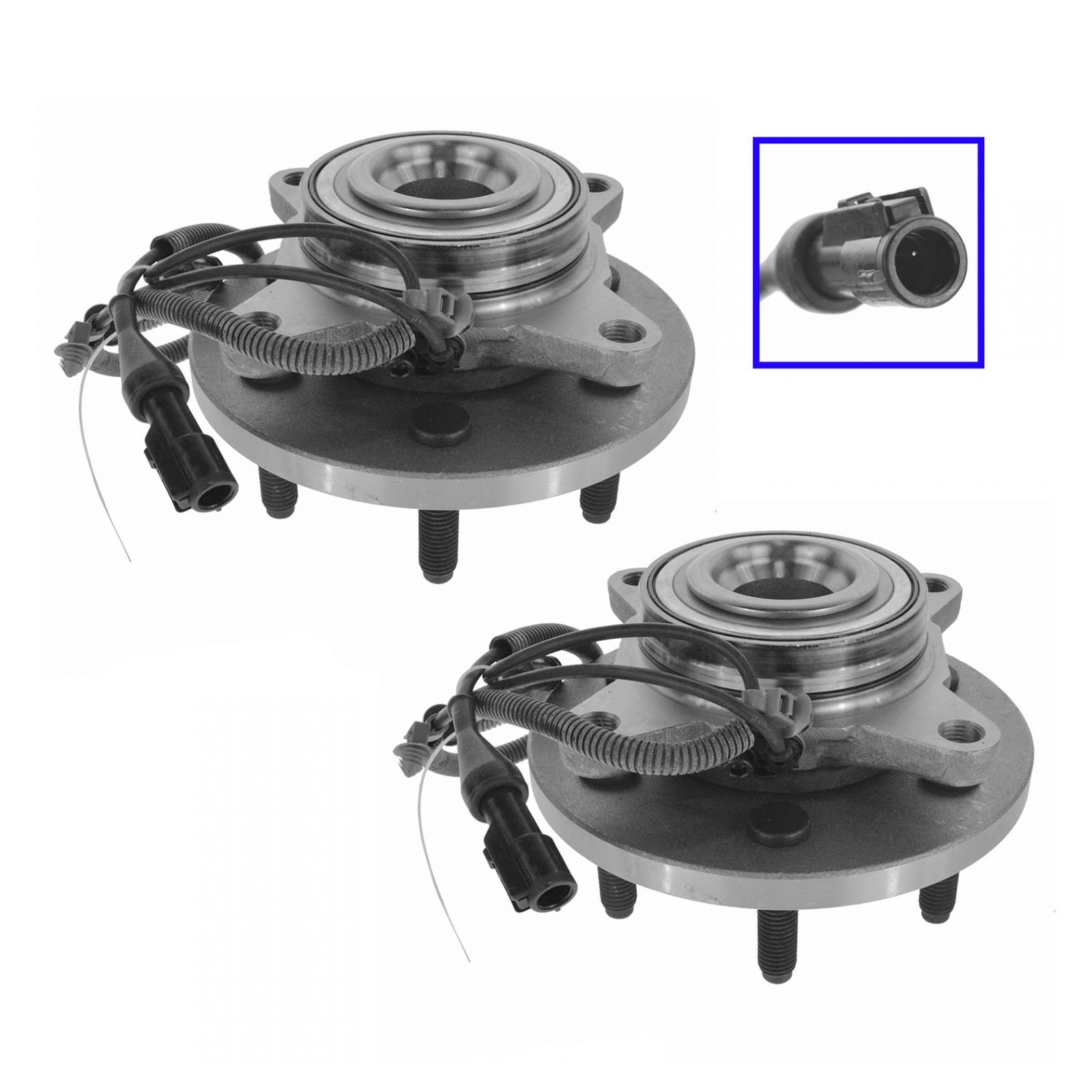 Wheel Hub & Bearing Front LH RH Pair for Expedition F150 Navigator w/ 2WD